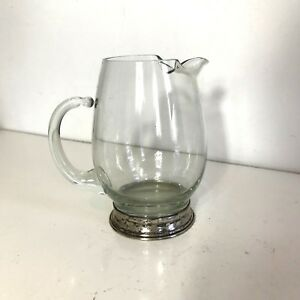 Wallace Sterling Silver Crystal Glass Cocktail Pitcher U 15 Antique Vintage