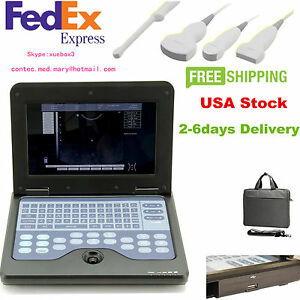 B ultrasound Scanner Portable Machine 4 Probe Convex Linear Cardiac Transvaginal