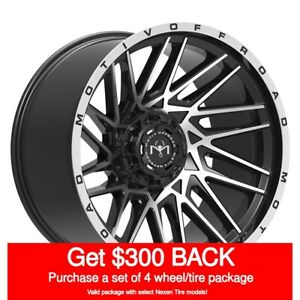 Motiv 424mb Mutant Rim 20x9 8x6 5 Offset 18 Black Machined Face Qty Of 4