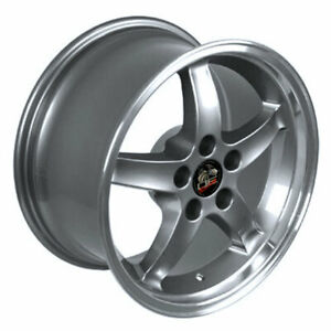 Gunmetal 17 Rim W Machined Lip Mustang Cobra R Deep Dish Style Wheel 17x9