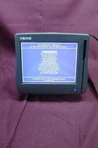 Micros Workstation 4 Lx Pos Touchscreen Terminal On Stand 400714 001 1994