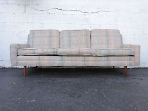 Mid Century Modern Couch Sofa With Tapered Legs 8069