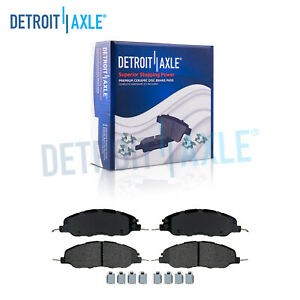 Front Ceramic Brake Pads Hardware For 2011 2014 Ford Mustang Base Gt No Brembo