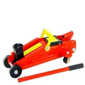 New Mini Hydraulic Floor Jack Lift W Wheels 4000lbs 2 Tons Great 4 Trunk