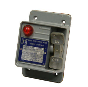 Square D 2510kw2c Manual Motor Starting Switch Cover 600vac 20a New