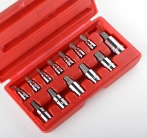 13pc Metirc Allen Hex Socket Bit Set Hd Wrench Ratchet 1 4 3 8 1 2 Mm New