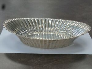 1948 Reed Barton X300 Sterling Silver Trajan Oval Ribbed Vegetable Bowl