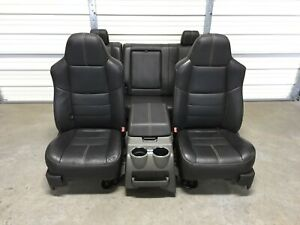 1999 2010 Ford F250 F350 F450 Super Duty Front And Rear Seats Black Leather
