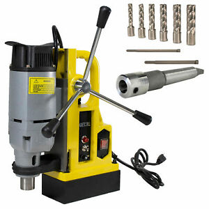 Steel Dragon Tools Md25 Magnetic Drill Press With 7pc 2 Small Size Cutter Kit