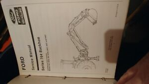 Ford New Holland Series 764 Backhoe Operators And Service Manual With Binder