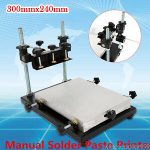 Us Manual Solder Paste Printer pcb Smt Stencil Printer S Size 300x240mm Printing