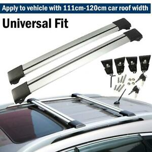 44 48 Universal Car Wagon Suv Aluminum Roof Cross Bar Luggage Cargo Carrier Us