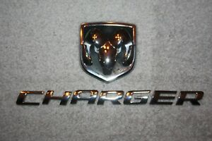 2005 2006 2007 2008 2009 2010 Dodge Charger Rear Trunk Deck Lid Emblem Set