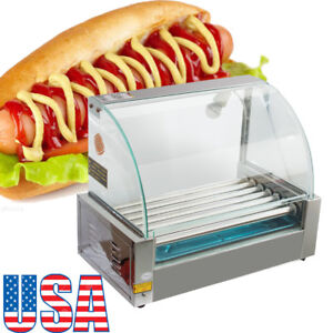 Commercial Household 18 Hot Dog 7roller Grill Cooker Machine Temperature Control