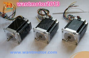 Us Free Ship wantai 3pcs Nema23 Stepper Motor 57bygh627 270oz in 3a