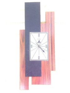 Floating Panel Verichron Wall Clock Mid Century Modern Eames Era Abstract