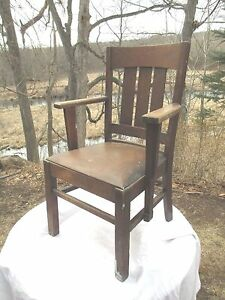 Arts Crafts Mission Oak Arm Chair Desk Chair Delivery Available See Below