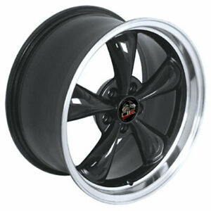 Black 18 Rim W Machined Lip Mustang Bullitt Style Wheel 18x9