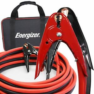 Energizer 2gauge Jumper Battery Cables 16ft Booster Jump Start Tanglefree Cables