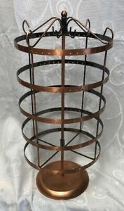 Store Display Jewelry Rack Copper Stand Spinners Spinning Holder Tall Countertop