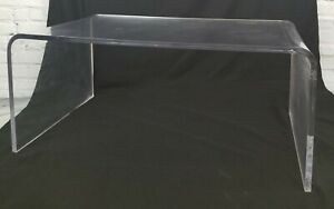 Mid Century Lucite Waterfall Coffee Table Vintage 40 X 24