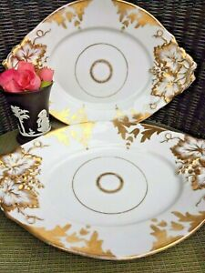 Pair Of Antique French Paris Porcelain Platters