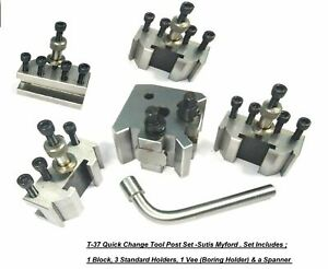 T37 Quick Change Tool Post 4 Holders Myford Lathe 90 115 Mm Center Height