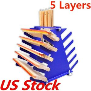 Desktop Screen Printing Squeegee Spatulas Holder Shelving Tool Rack Usa Stock