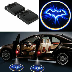 2 X Wireless Car Door Led Welcome Laser Projector Logo Ghost Shadow Light Batman
