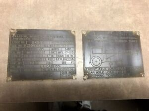 Case 530 m Military Tractor Brass Tags