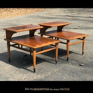 Mcm Lane Co Acclaim Pair Of Tiered Stepped End Tables