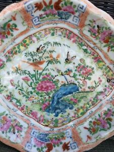 Antique Chinese Export Rose Medallion Bowl Dish