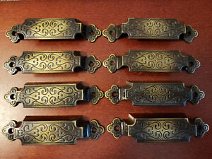 Vintage Set Of 8 1960s Weiser Co Drawer Pulls Rare Retro Fast Free Shipping