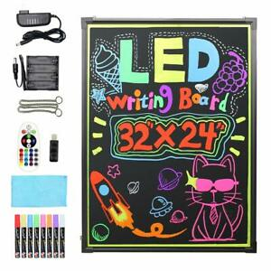 Flashing Illuminated Erasable Led Neon Sign Message Menu Writing Board W Remote