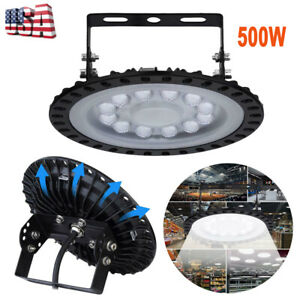 Smd Led Ufo High Bay Light 500w Reflector Floodlight For Factory Warehouse Lamp