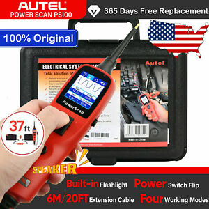 Autel Powerscan Ps100 Electrical System 12v 24v Diagnosis Circuit Tester Tool Us