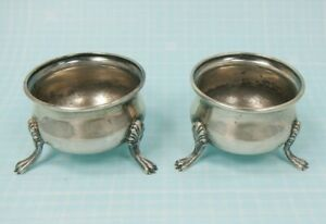 Watson Sterling Silver Exemplar Pair Of Vintage Open Salt Cellars