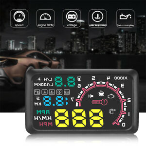 W02 Hud Head Up Display 5 5inch Windshield Projector Obd2 Ii Car Vehicle Speed