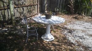 Vintage Cement Table And Chairs