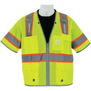 Global Glove Class 3 Surveyor Safety Vest With Led Lights Yellow lime
