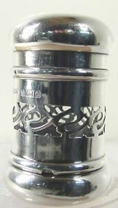 1904 England Sterling Silver Glass Perfume Bottle Scent Bottle Excellent Plus
