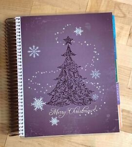 Glam Purple Christmas Tree Front back Cover Set 4 Use W Erin Condren Planner