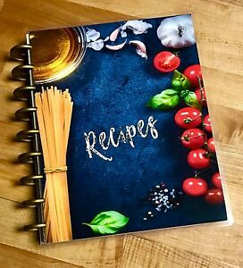 Food Recipes Front back Cover Set Made For Use With Happy Planner