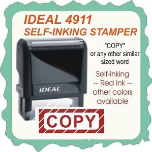 Copy Custom Made Trodat Ideal Self Inking Rubber Stamp 4911 Red Ink