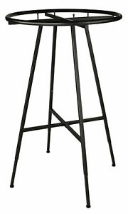 Round Clothing Rack Clothes Garment Retail Store Dark Charcoal Finish