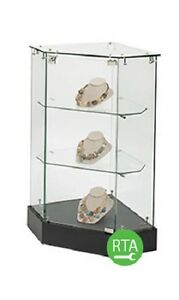 Infinity Corner Display Case Showcase 36 High X 18 X 25 Merchandise Rta