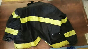 Firefighter Turnout Gear Padded Jacket Black 46 X 35 X 39 Janesville Lion No Cut
