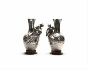 Pair Of Auguste Moreau 1834 1917 French Silver Plated