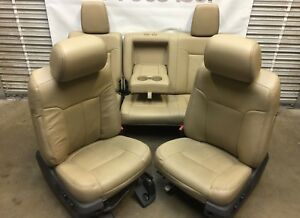 1999 2016 Ford F250 F350 F450 Super Duty Front Rear Seats Tan Leather