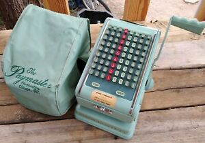 Vintage Paymaster Series 7000 Check Writer Machine Rare Color With Key